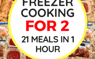 Freezer Cooking for 2: 21 Meals in 1 Hour