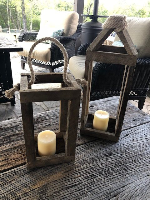 Make your own DIY rustic wood lantern with just a few supplies. These step by step instructions with detailed pictures will help you make your own. Decorate your lantern for Christmas, Fall, or anytime!