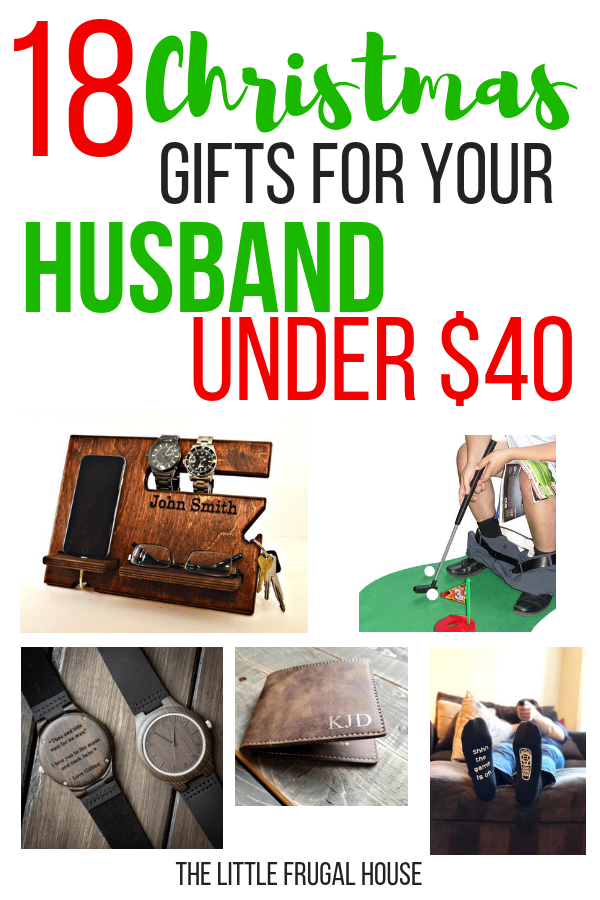 18 Christmas Gifts For Your Husband Under 40 The Little Frugal House