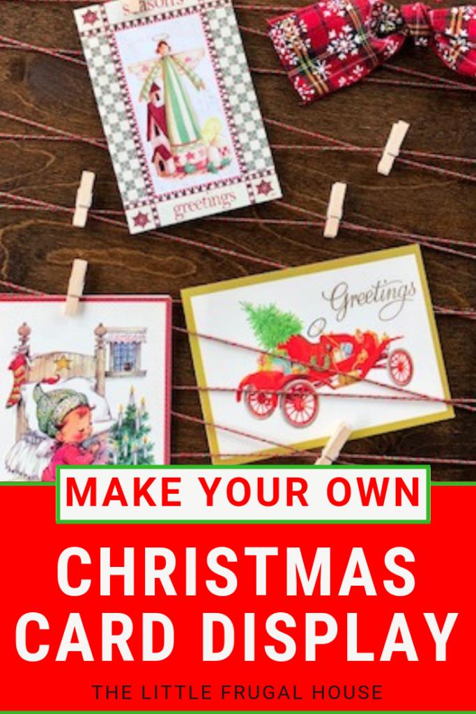 Merry Mail DIY Christmas Card Holder
