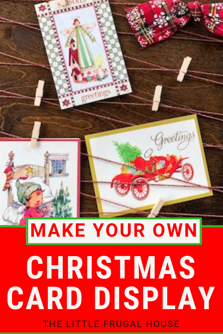 Merry Mail DIY Christmas Card Holder - The Little Frugal House