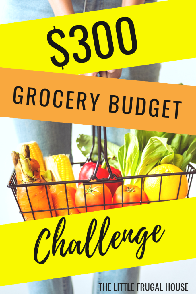 Ready to save money on groceries? Join me for a $300 grocery budget challenge. I'm ready to spend less at the grocery, save more, and get our grocery budget under control.