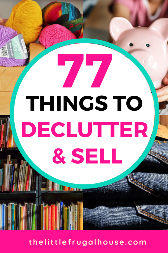 Clean up the clutter around your home and find things to declutter and sell to make money. Take back your space and enjoy your home more, while finding extra cash to take a vacation, buy a new car, save for an emergency, or complete a home project.