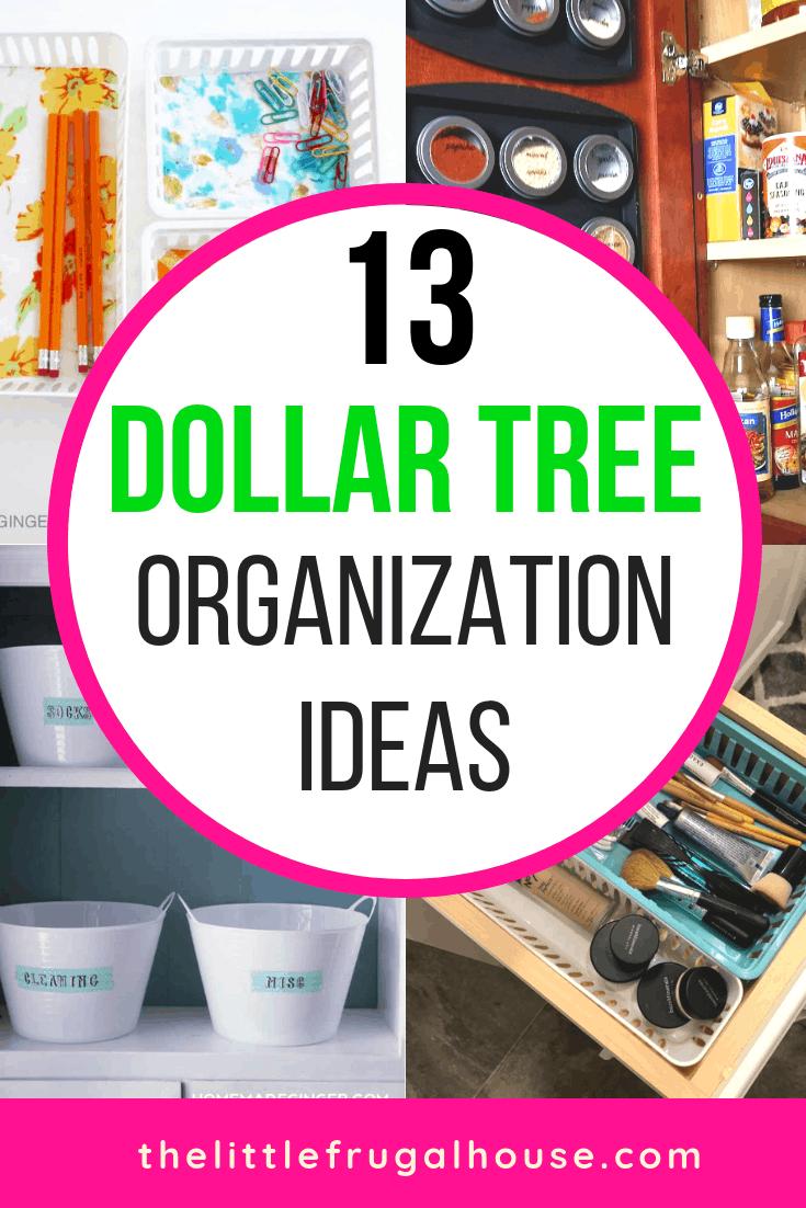 13 Dollar Tree Organization Ideas - The Little Frugal House on dollar store classroom organization, dollar tree bathroom organization, dollar tree pantry organization, dollar tree baskets,