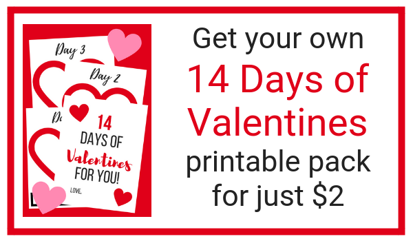 A simple, sweet, and affordable Valentine's Day gift for your husband. Get the printable pack and give your husband a sweet gift every day for 14 days. This 14 days of Valentines gift is so easy, so sweet, and very frugal.