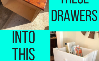DIY Repurposed Drawer Shelf
