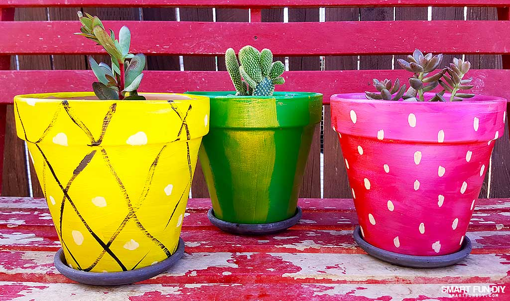 20 Best Painted Flower Pot Ideas The Little Frugal House