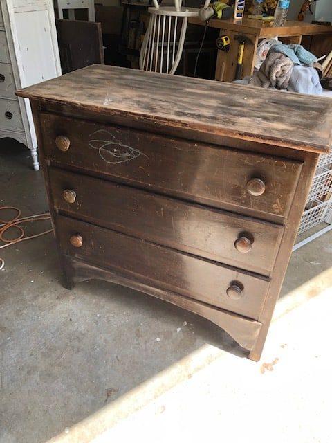 Diy Yard Sale Dresser Makeover The Little Frugal House