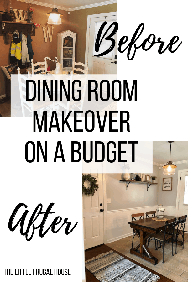 Diy Dining Room Makeover On A Budget The Little Frugal House