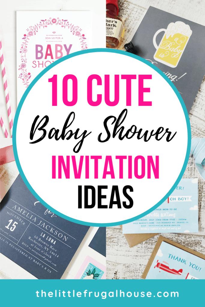 10 Cute Baby Shower Invitation Ideas