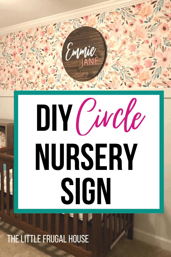 Diy Baby Nursery Circle Name Sign