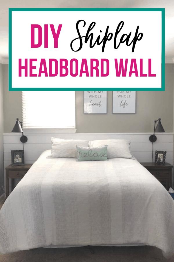 Diy Shiplap Headboard Wall The Little