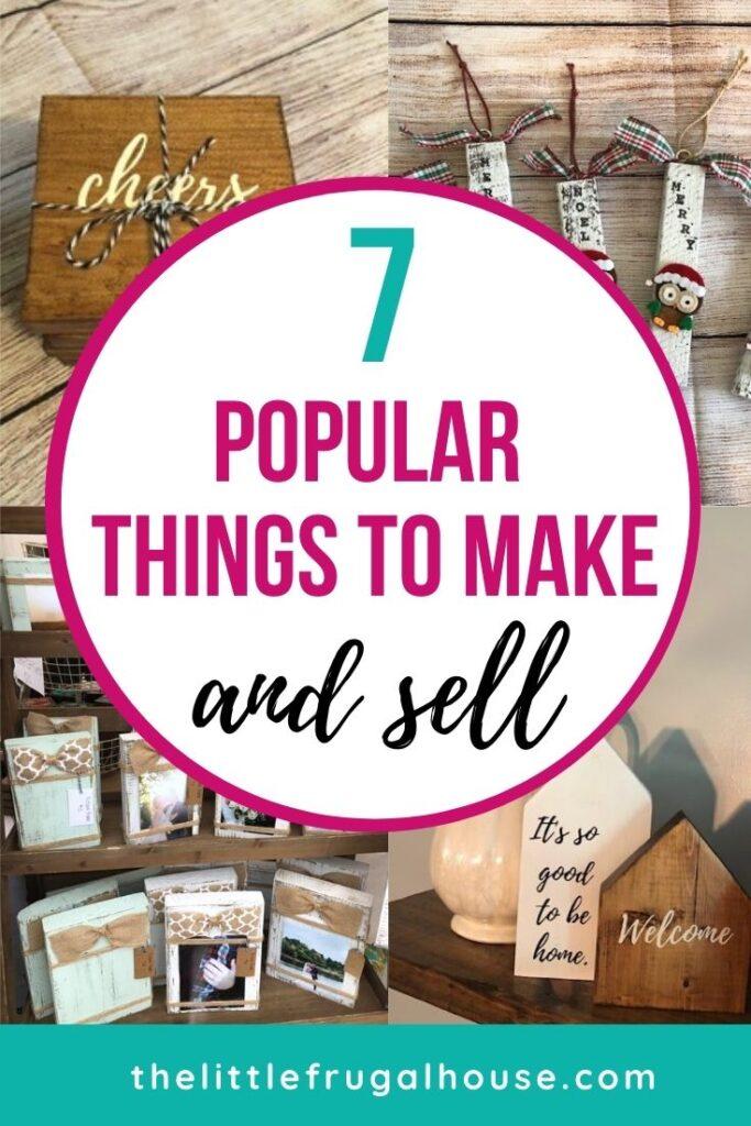 Estas son las cosas más populares para hacer y vender por dinero extra en línea, en Etsy o en ferias de artesanía.  ¡Pruebe estos sencillos proyectos de bricolaje para obtener un dinero extra!